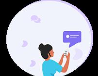 Chatting apps illustration