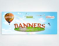 3d banner lanscape
