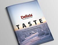 Delizia - Italian Homemade Ice Cream Brochure Design