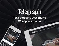 Telegraph. Blogging WP theme