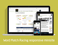 Word Match Racing Shonsorship Minisite