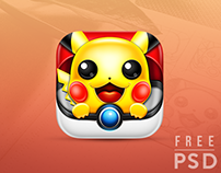 Free PSD Pokemon App Icon