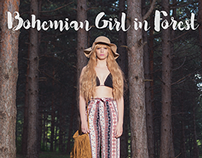 Bohemian Girl in Forest