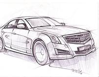 Car sketches 3 Cadillac ATS