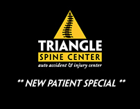 Triangle Spine Center - Coupon Business Card