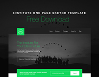 Institute One Page Sketch Template Free Download