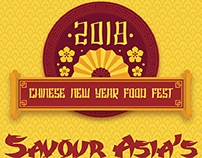 Chinese New Year Food Fest Standee