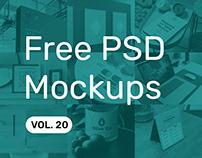 Free PSD Mockups vol. 20