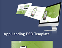 App Landing PSD Web Template