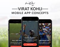 Virat Kohli - Sports App Concept