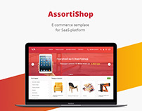 Assorti shop/E-commerce template/Web design/UI/UX