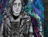 John Lennon with Twin Lens