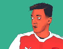 Mesut Ozil Illustration