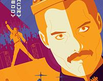 Poster Tom Whalen/ Freddy mercury