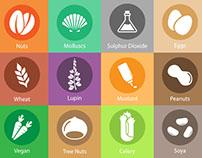 Tenkites Allergen Icons