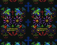 Sugar skulls wallpaper