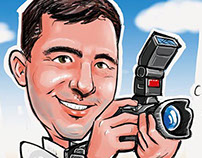 Photographer caricature