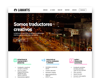 LA MANTIS: Responsive website for creative agency