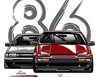 Toyota AE86 Trueno & Levin