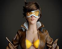 Tracer Overwatch - Fan Art