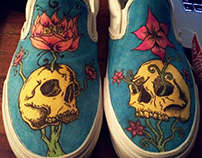 Skulls & Flowers Shoes (Personal Project)