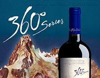 Etiqueta de vino 360º Series