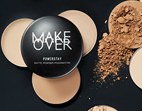 MAKE OVER POWERSTAY Cosmetics Ad Campaign