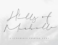 FREE FONT | HILLS OF MARBELLA - LUXURIOUS SCRIPT