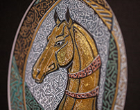 """Akhal teke stallion"""