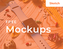 Free iPhone 6s & Apple Watch 3 Mockups - Sketch