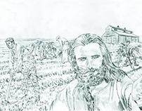 """""""Aspirai às coisas do Alto..."""" - ilustração para blog"""