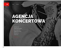 Music & Artists Agency website