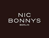 NIC BONNYS: logo / poster / restaurant