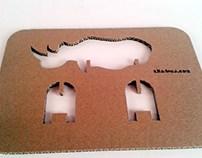 Zabawki z kartonu - Nosorożec / Cardboard toys