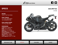 Trade Show Booth Motorcycle App