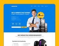 NeedHosting Website Template - Free PSD