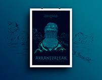 Arrantzaleak - Tribute Poster to the Basque fishermens