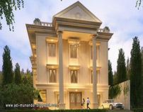 Arsitektur Klasik Guest House di Ketintang Surabaya
