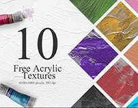 10 UNIQUE HAND PAINTED ACRYLIC TEXTURES