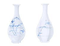 25_Korean Blue and White Porcelain (15thC - 19thC)韓国製