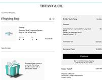 Daily UI #002. Chekout form Tiffany&Co