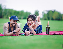 Arnab + Arpita pre-wedding shoot in golf course Pune