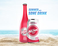 Beer Labels sticker Design For Aqua Hunk Company