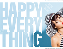 Boca Center - Double Page Holiday Ad Campaign