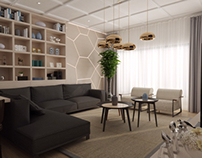 İncek Loft Living room