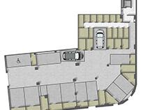 Floor plan 2D rendering in Valencia.