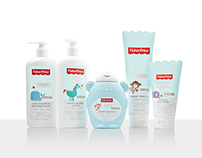 Fisher Price Bath & Body Care: Packaging Design