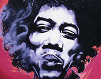 Jimi Hendrix Experience Graffity