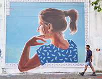 Mural for Wang street Art Festival, Montevideo, Uruguay