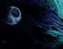 Black Hole. Destruction of the planet.